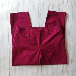 LOFT Julie Pink Magenta Cropped Ankle Pants